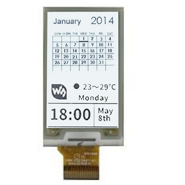 Customized Digital Wireless E Paper Displays / Color E Ink Screen